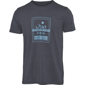 North Bend Vertical Camiseta Hombre, blue ink